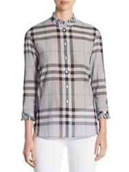 Burberry Sala Cotton Shirt Pale Lavender