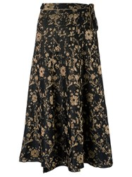 Gig Floral Pattern Skirt Women Polyamide P Black