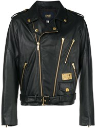 Class Roberto Cavalli Zipped Biker Jacket Black
