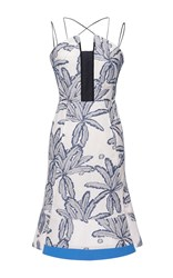 Roland Mouret Cotton Palm Clere Dress White