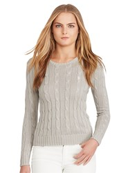 Polo Ralph Lauren Julianna Cable Knit Cotton Jumper Oxford Grey