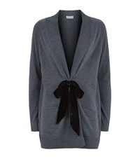 Claudie Pierlot Marie Antoinette Bow Cardigan Female Grey