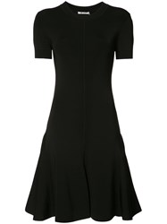 Alexander Wang T By Short Sleeve Skater Dress Black