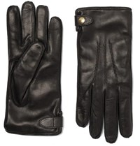 Dunhill Duke Cashmere Lined Leather Gloves Black