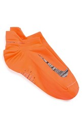 Nike Men's 'Elite' Lightweight No Show Tab Running Socks Tot Orange