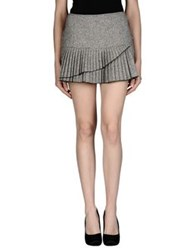 Armani Jeans Skirts Mini Skirts Women Light Grey
