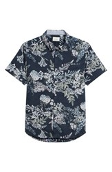7 Diamonds Conversation Peace Floral Sport Shirt Mint