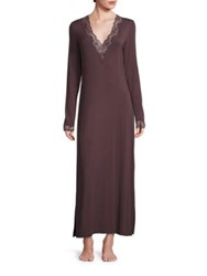 Natori Lace Trimmed Lounger Gown Ash