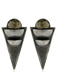 Liase Eclipse Half Moon Triangle Earrings