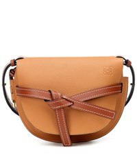 Loewe Gate Small Leather Crossbody Bag Brown