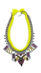 Joomi Lim Rebel Romance Braided Necklace Green Multi
