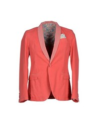 Manuel Ritz Suits And Jackets Blazers Men Coral