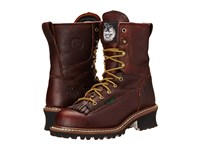 Georgia Boot Logger 8 Waterproof St W Removable Kiltie Tumbled Chocolate Men's Waterproof Boots Brown
