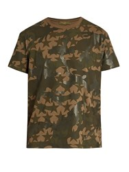 Valentino Camustars Print Cotton T Shirt Green Multi