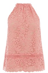 Oasis Lace Halter Top Coral