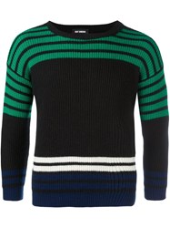 Raf Simons Ribbed Striped Jumper Black
