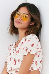 Urban Outfitters Vintage Deadstock Shooter Aviator Sunglasses Gold
