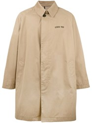 Palm Angels Oversized Trench Coat Nude Neutrals