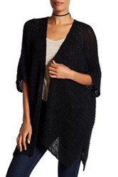 Cejon Woven Wearable Cardigan Like Shawl Black