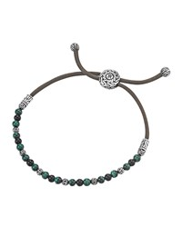 Onyx And Malachite Cord Bracelet John Hardy Black