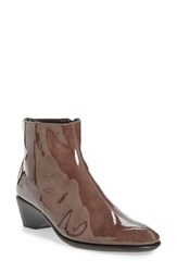 The Flexx Women's 'Labyrinth' Bootie Smoke Patent Leather