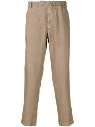 Dell'oglio Tailored Fitted Trousers Nude And Neutrals