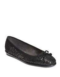 Aerosoles Fast Bet Bow Sequin Flats Black