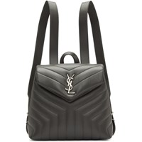 Saint Laurent Grey Small Loulou Backpack