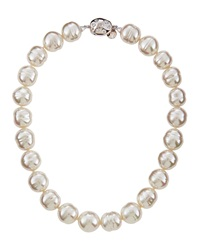 Majorica Faux Pearl Collar Necklace