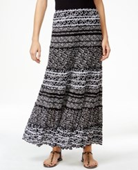 Jm Collection Printed Maxi Skirt Only At Macy's