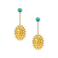 Alexandra Alberta Durian Topaz Earrings Blue Gold