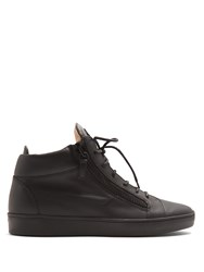 Giuseppe Zanotti Kriss Mid Top Leather Trainers Black