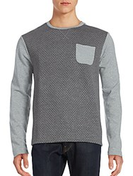 Saks Fifth Avenue Contrast Sleeve Woven Tee Grey