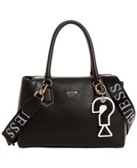 Guess Felix Girlfriend Satchel Black Gold
