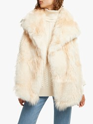 French Connection Marion Faux Fur Wrap Gilet Classic Cream
