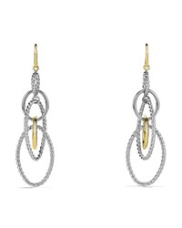 Mobile Large Link Earrings And Gold David Yurman