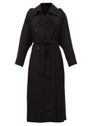 Petar Petrov Mina Double Breasted Belted Trench Coat Black