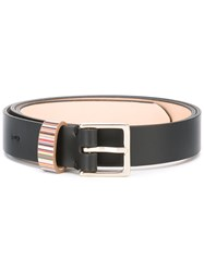 Paul Smith Striped Detail Belt Black