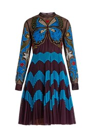Mary Katrantzou Charm Embroidered Tulle Dress Purple Multi