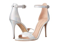 Enzo Angiolini Manna Silver Leather High Heels