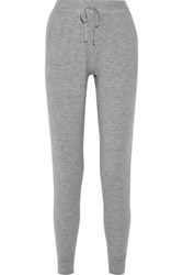 Donna Karan New York Cashmere Blend Track Pants Gray