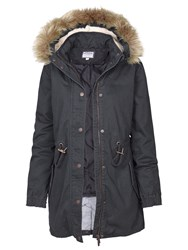 Fat Face Paington Parka Charcoal