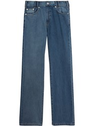 Burberry Straight Fit Two Tone Jeans Blue