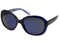 Lilly Pulitzer Magnolia Navy Guilty Pleasure Inside Temples Polarized Gold Flash Fashion Sunglasses Blue