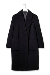 Textured Melton Car Coat By Boutique Black