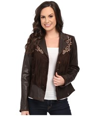 Scully Lore Exotic Fringe Jacket Brown Women's Coat