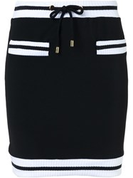 Moschino Contrast Trim Mini Skirt Black