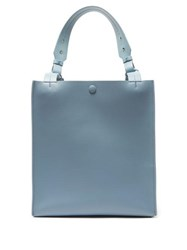 Sophie Hulme Cube Leather And Suede Tote Bag Blue