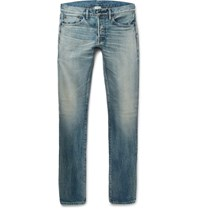 Fabric Brand And Co Slim Fit Selvedge Denim Jeans Blue