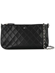 Chanel Vintage Cosmos Line Quilted Cc Logos Chain Shoulder Bag Black